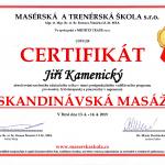 Certifikát - skandinávská masáž