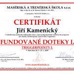 Certifikát - fundované doteky I