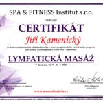 Certifikát o absolvování kurzu Lymfatické masáže