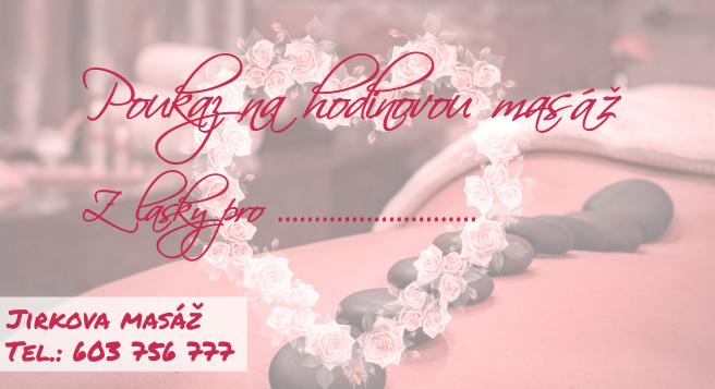 Valentýnský poukaz na hodinouvou masáž